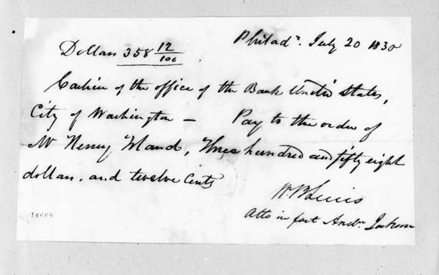 William Berkeley Lewis to Henry Toland, July 20, 1830