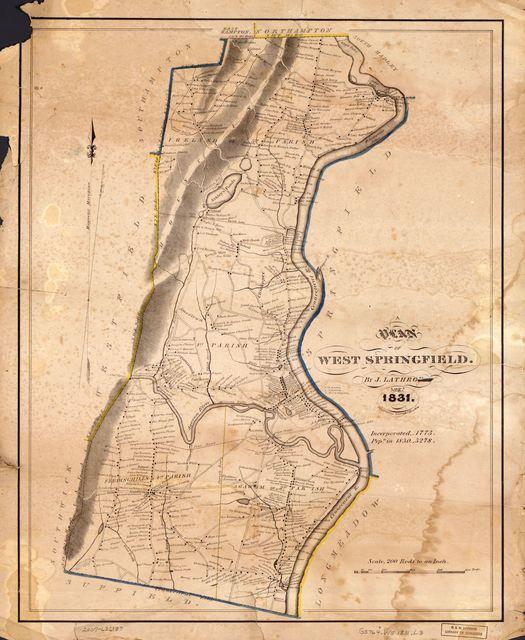 A plan of West Springfield : [Massachusetts] /