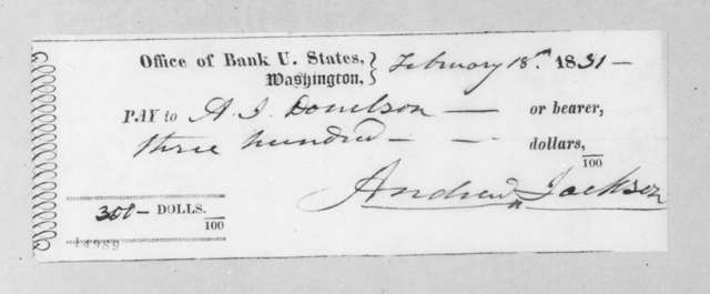 Andrew Jackson to Andrew Jackson Donelson, February 18, 1831