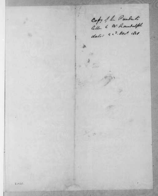 Andrew Jackson to John Randolph, December 22, 1831