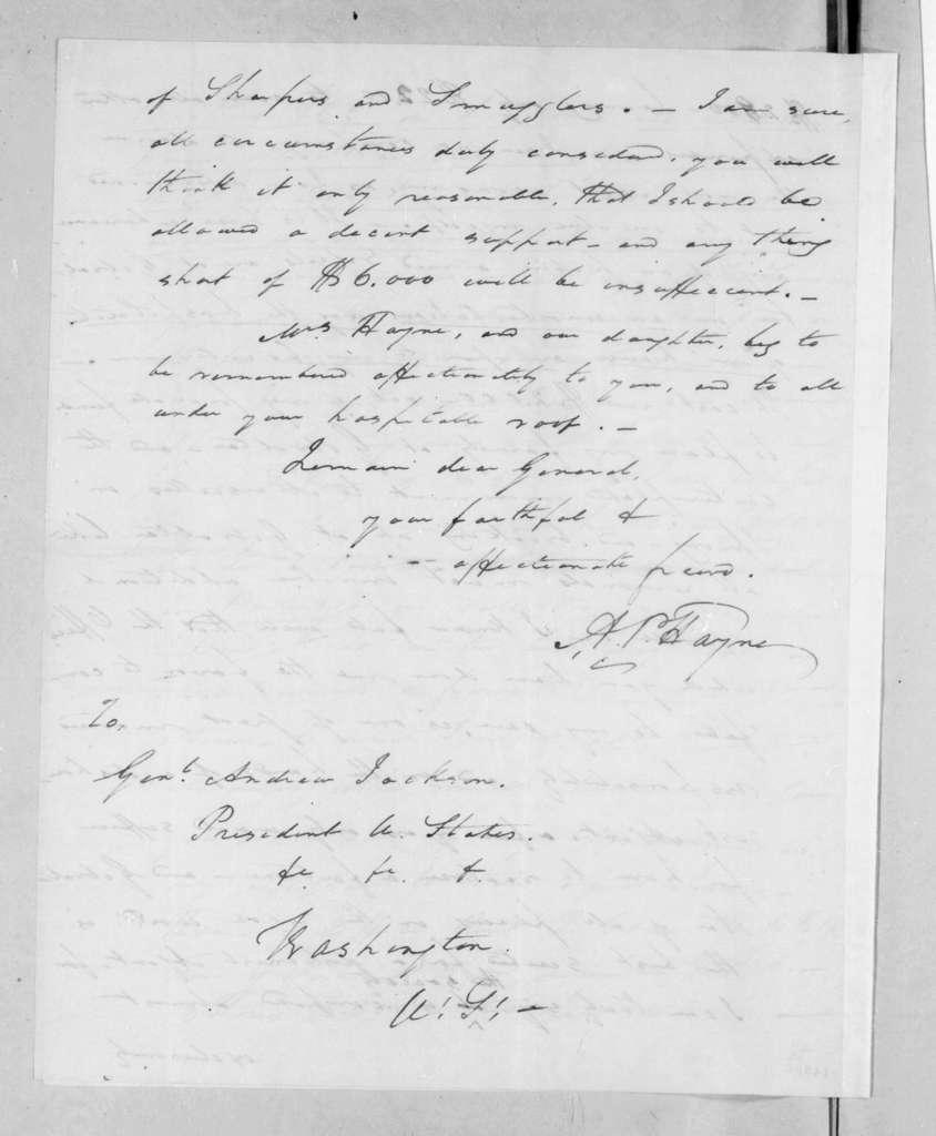 Arthur Peronneau Hayne to Andrew Jackson, January 7, 1831