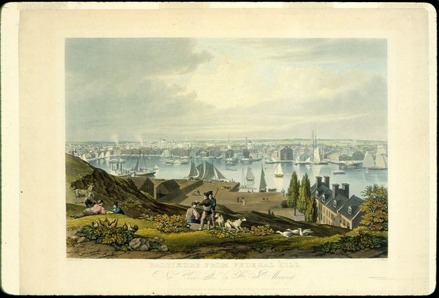 Baltimore from Federal Hill / paind. & engd. by W.J. Bennett.