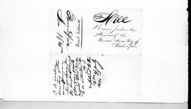 Benjamin B. Cooper to Andrew Jackson, June 15, 1831