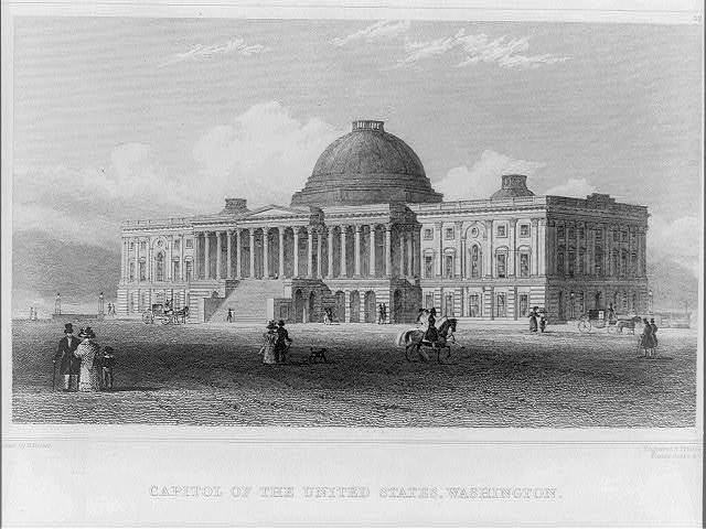 Capitol of the United States, Washington / drawn by H. Brown ; engraved and printed by Fenner Sears & Co.