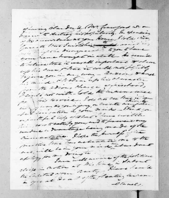 Carter Beverley to Andrew Jackson, February 4, 1831