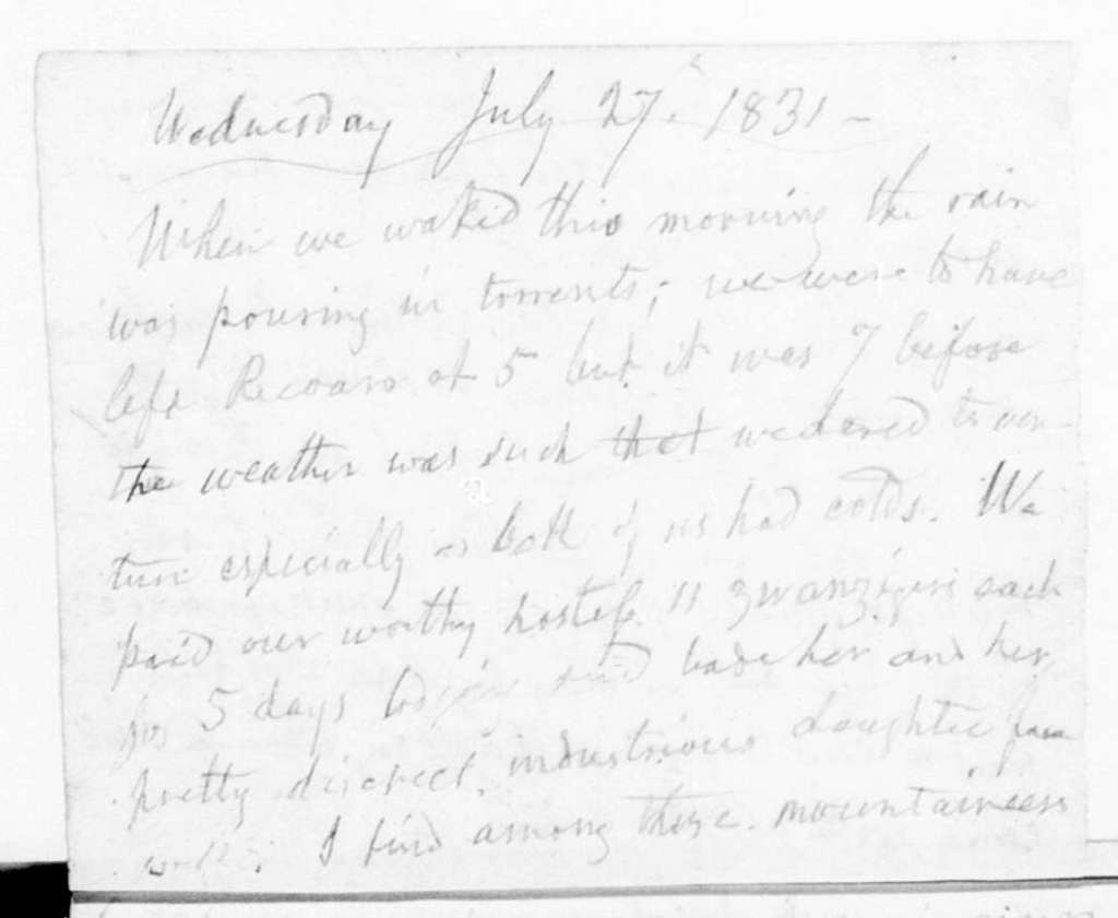 Diaries---4 March-31 July 1831
