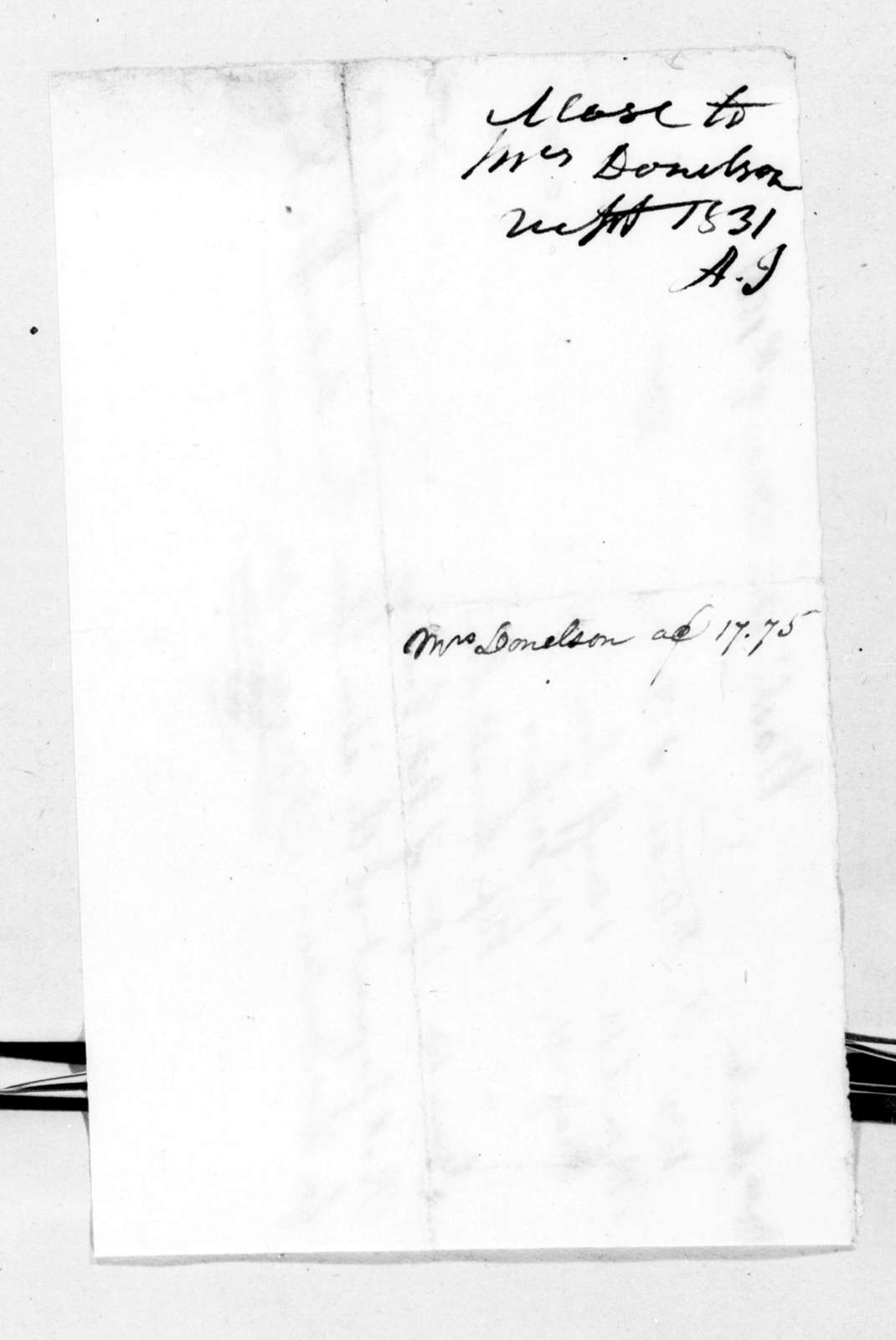 F. Masi & Co. to Elizabeth Donelson, May 9, 1831