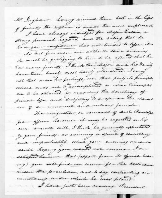 Hector Craig to Andrew Jackson, July 16, 1831