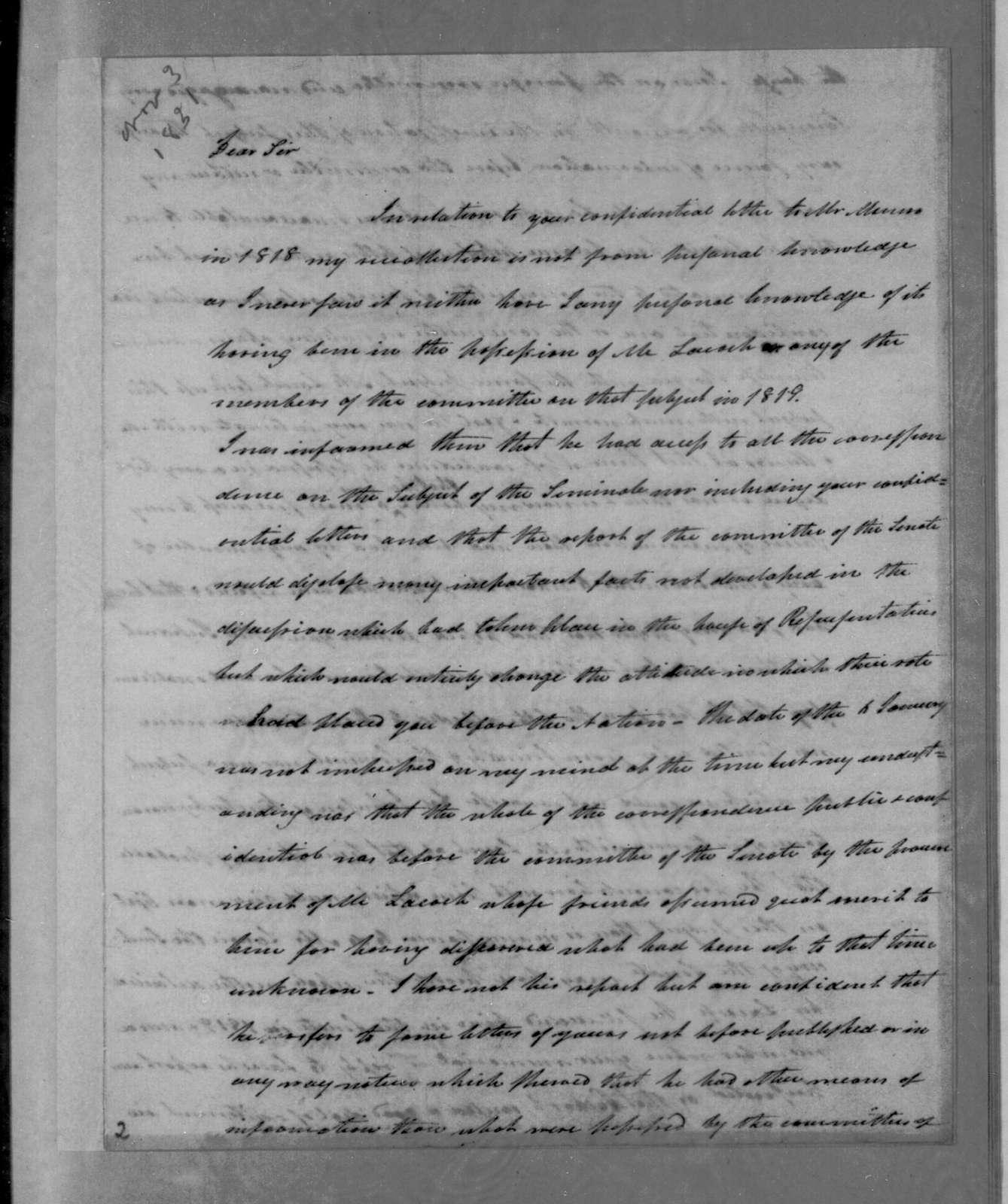 Henry Baldwin to Andrew Jackson, November 3, 1831