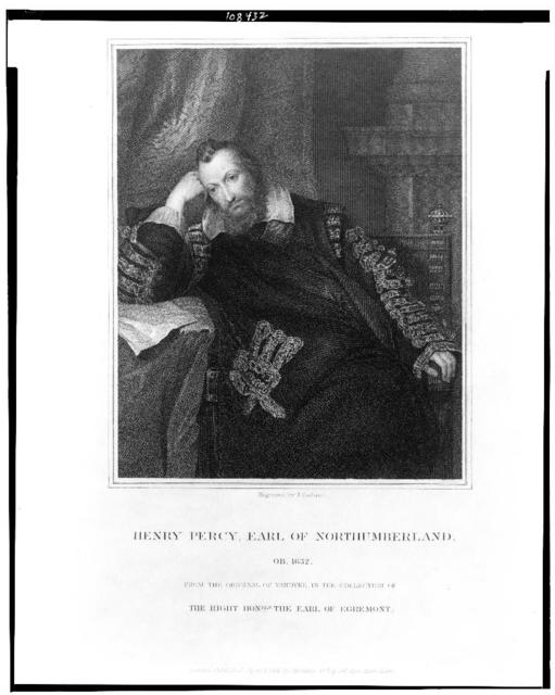 Henry Percy, Earl of Northumberland / engraved by J. Cochran ; from the original of Vandyke.