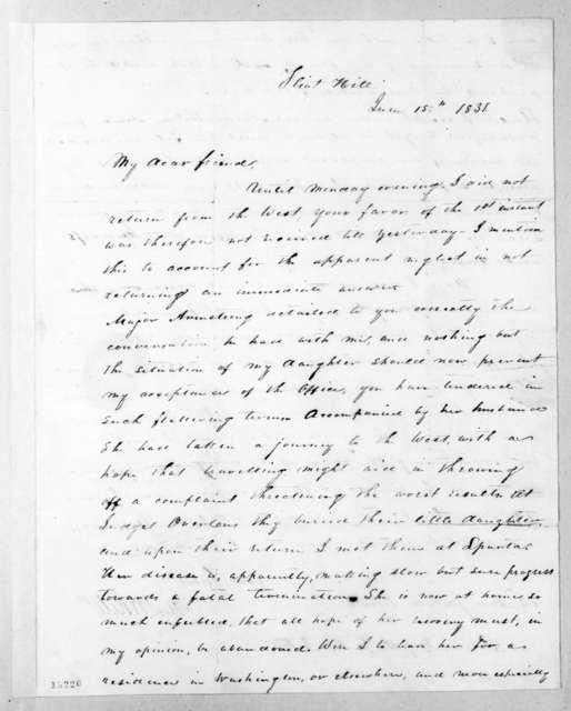 Hugh Lawson White to Andrew Jackson, June 15, 1831