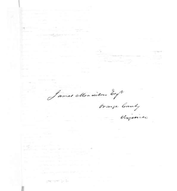 James Madison to James Robertson, Jr., March 27, 1831.