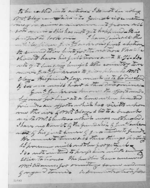 James Tallmadge to Aaron Ward, December 31, 1831