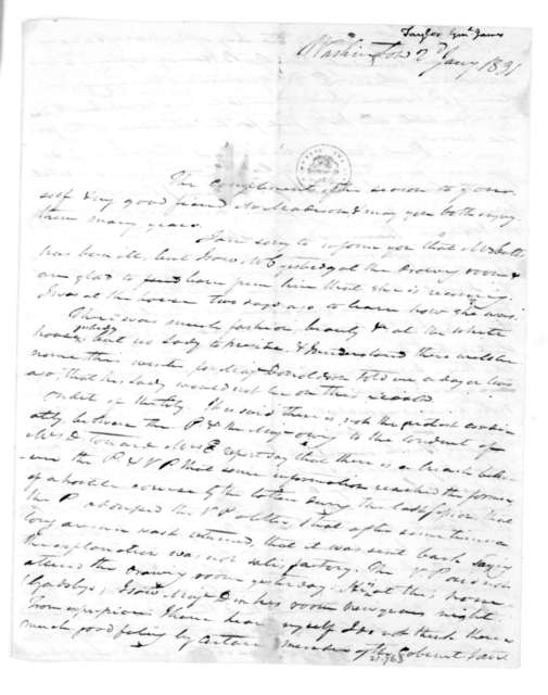 James Taylor to Dolley Payne Madison, January 2, 1831.