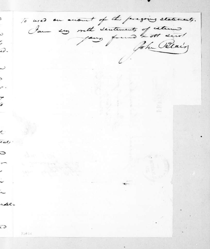 John Blair to Andrew Jackson, March 18, 1831