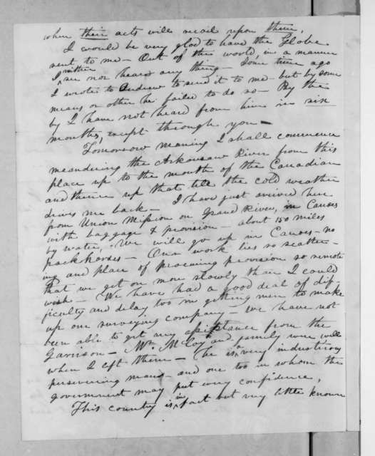 John Donelson to Andrew Jackson, October 31, 1831