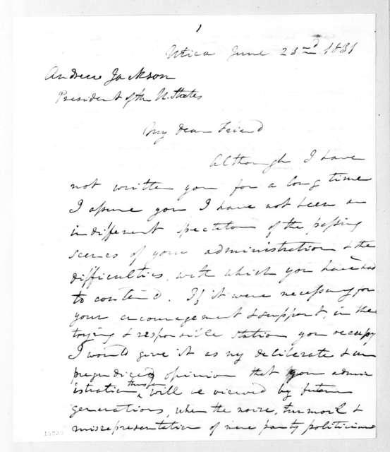 John Freeman Schermerhorn to Andrew Jackson, June 23, 1831