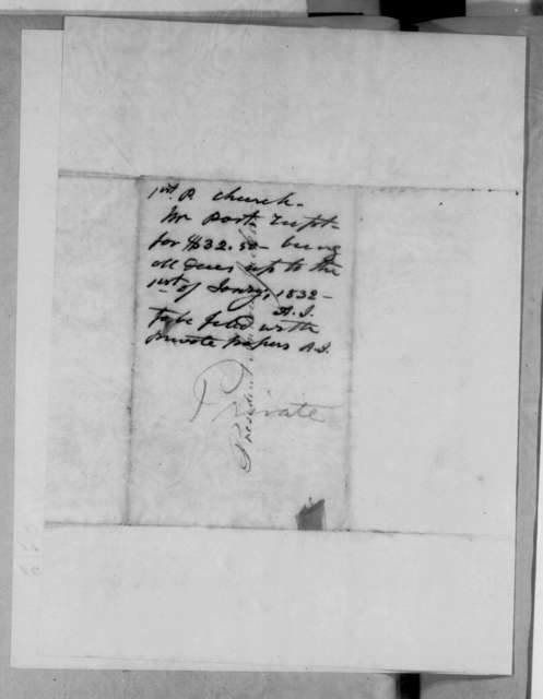 John Kennedy to Andrew Jackson, October 7, 1831