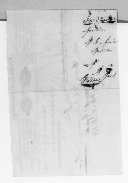 John McAllister & Co. to Andrew Jackson, October 13, 1831