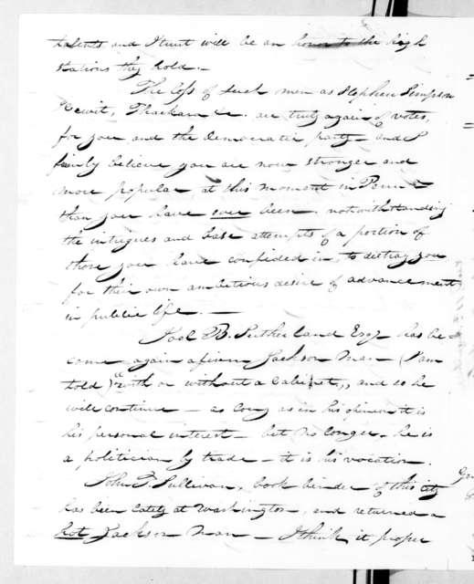 John Pemberton to Andrew Jackson, August 9, 1831