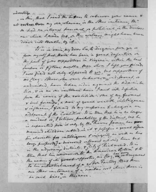 John Randolph to Andrew Jackson, November 8, 1831