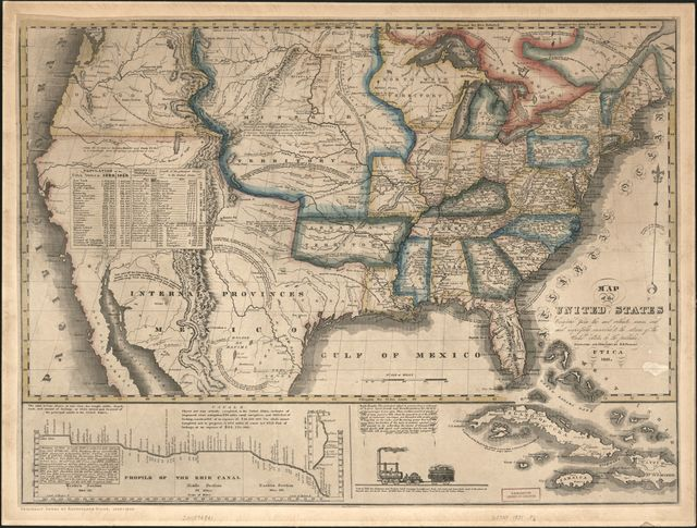Map of the United States : compiled from the most authentic sources ... /