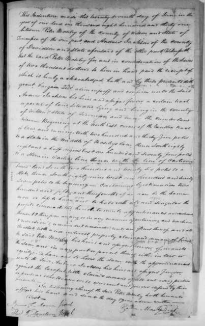Peter Mosley to Andrew Jackson, October 12, 1831