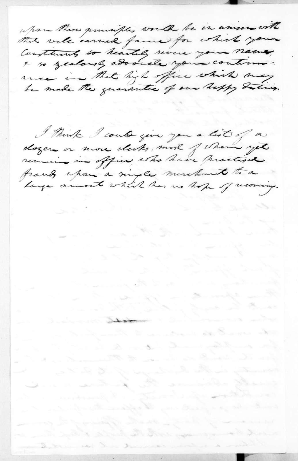 Robert Mayo to Andrew Jackson, June 3, 1831