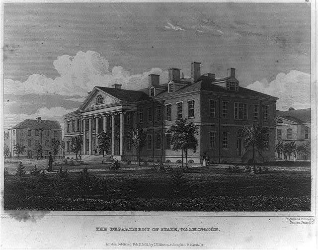 The Department of State, Washington / drawn by C. Burton, N.Y. ; engraved & printed by Fenner Sears & Co.