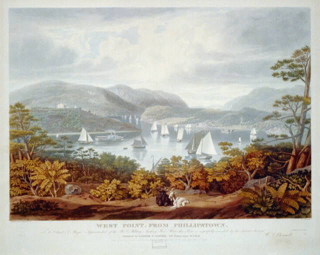 West Point, from Phillipstown / painted and engraved by W.J. Bennett.