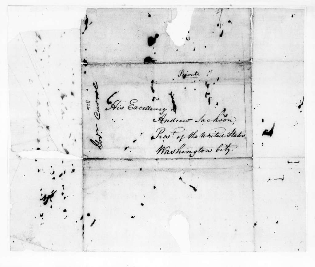 William Carroll to Andrew Jackson, September 27, 1831