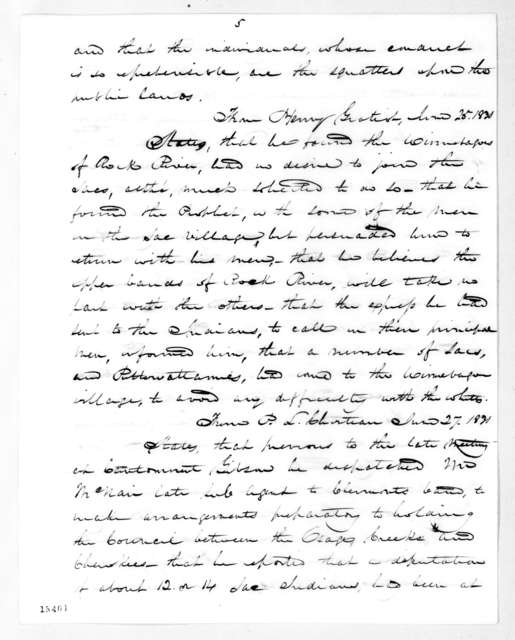 William Clark (1770 - 1838) to Andrew Jackson, August 12, 1831
