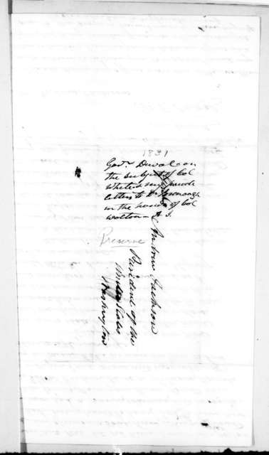 William Pope Duval to Andrew Jackson, July 15, 1831