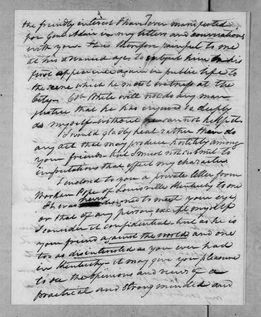 William Pope Duval to Andrew Jackson, October 4, 1831