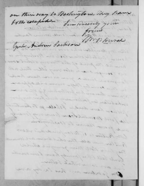 William Pope Duval to Andrew Jackson, October 4, 1831