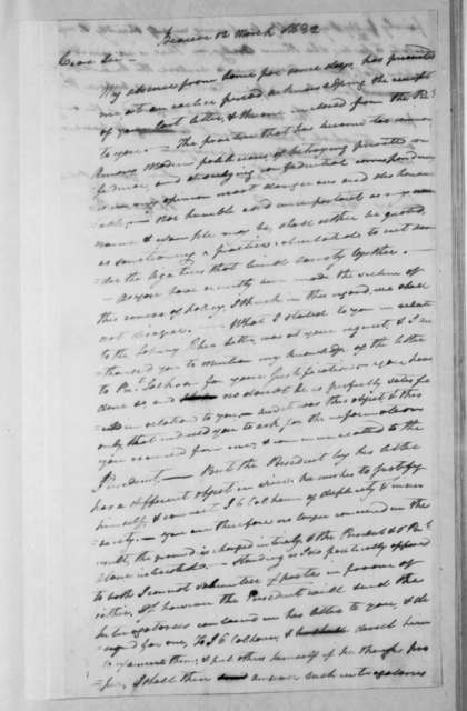Abner Lacock to Henry Baldwin, March 12, 1832