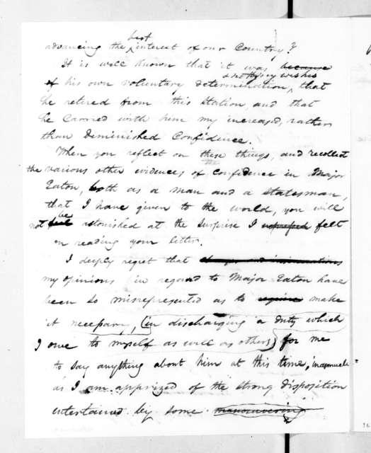 Andrew Jackson to John Christmas McLemore, September 29, 1832