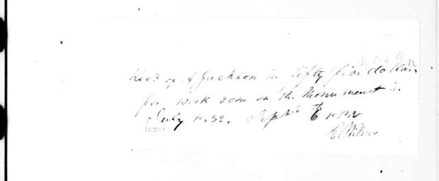 E. Wilson to Andrew Jackson, September 6, 1832