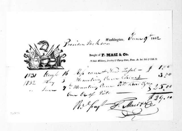F. Masi & Co. to Andrew Jackson, June 9, 1832