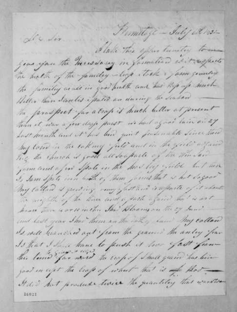 Graves W. Steele to Andrew Jackson, July 6, 1832