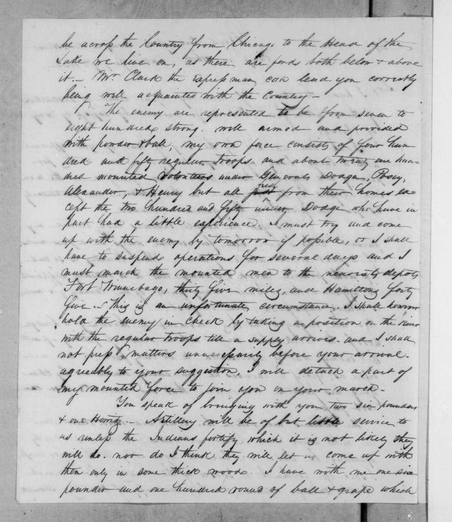 Henry Atkinson to Winfield Scott, July 9, 1832