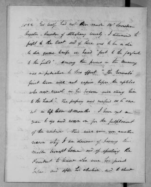 Henry Baldwin to Abner Lacock, February 25, 1832
