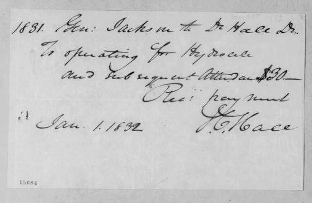 James C. Hall to Andrew Jackson, January 1, 1832