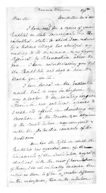 James Madison to Benjamin Romaine, November 8, 1832.