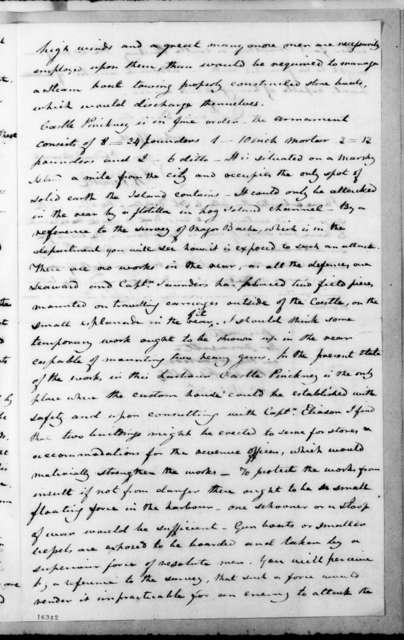 Joel Roberts Poinsett to Andrew Jackson, November 24, 1832