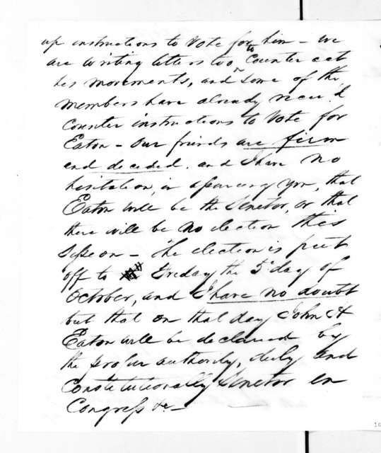 John Christmas McLemore to Andrew Jackson, September 25, 1832