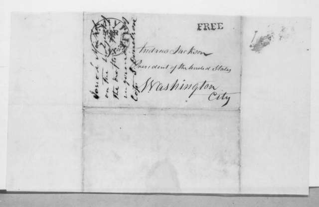 Josiah Nichol to Andrew Jackson, March 3, 1832