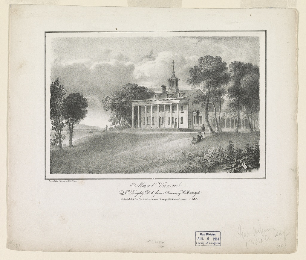 Mount Vernon / T.D. ; T. Doughty del. from a drawing by H. Reinagle.