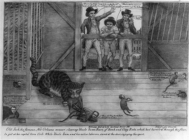 Old Jack, the famous New Orleans mouser, clearing Uncle Sam's barn of bank and Clay rats; ...