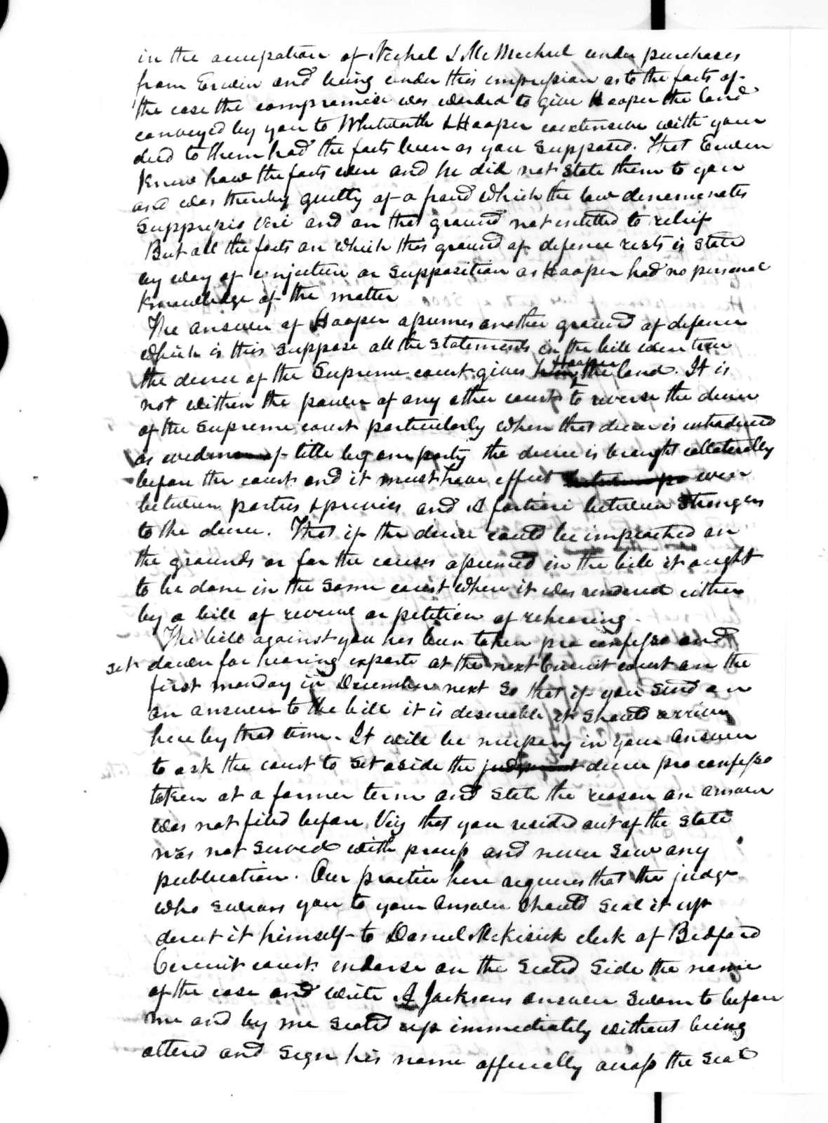 Samuel Anderson to Andrew Jackson, November 6, 1832